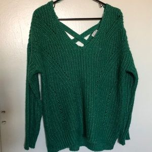 Hippie Rose Knitted Green Sweater
